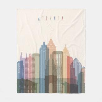 Cobertor De Velo Skyline da cidade de Atlanta, Geórgia |