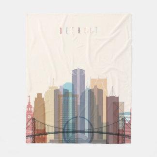 Cobertor De Velo Skyline da cidade de Detroit, Michigan |