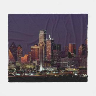 Cobertor De Velo Skyline de Dallas na noite