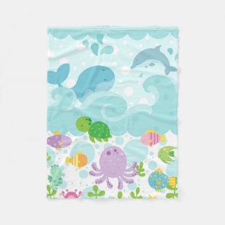 Cobertor De Velo Sob a cobertura da flanela do mar