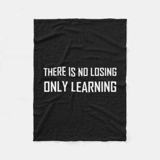 Cobertor De Velo Somente divisa de aprendizagem não perdedora