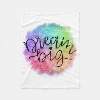 Cobertor De Velo Sonho do arco-íris da aguarela da galáxia do falso