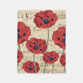 Cobertor De Velo sonho vermelho da papoila