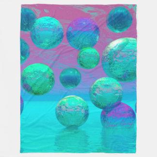 Cobertor De Velo Sonhos do oceano, fantasia violeta do oceano do