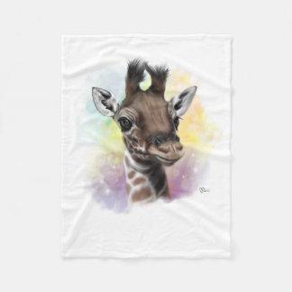 Cobertor De Velo Sorriso do girafa do bebê