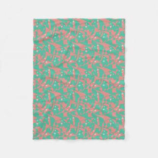 Cobertor De Velo Sparkles chiques doces do verde da hortelã da luz