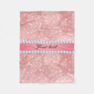 Cobertor De Velo Sparkles cor-de-rosa e diamantes de Bokeh