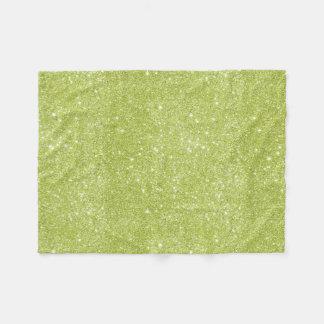 Cobertor De Velo Sparkles do brilho do verde limão