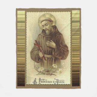 Cobertor De Velo St Francis de Assisi com lírios do crucifixo