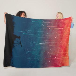 Cobertor De Velo Stargazer psicadélico do astrónomo da cor líquida