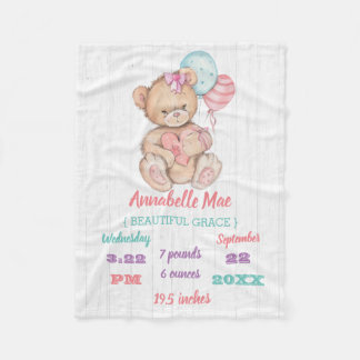 Cobertor De Velo Stats branco do nascimento da madeira & do bebé do