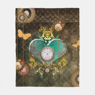 Cobertor De Velo Steampunk, coração maravilhoso com pulsos de