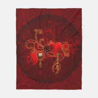 Cobertor De Velo Steampunk, coração wunderful