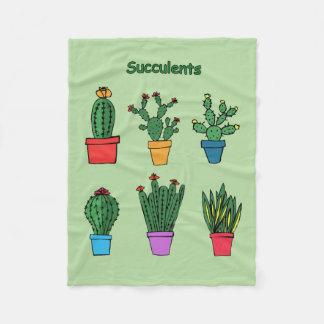 Cobertor De Velo Succulents #1