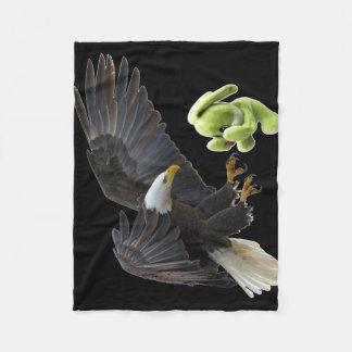 Cobertor De Velo Sustos de Eagle a um ursinho