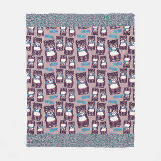 Cobertor De Velo Tamanho médio da cobertura do velo de Meowtown