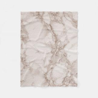 Cobertor De Velo Tan e mistura de mármore branca
