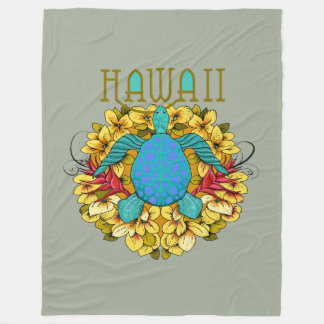 Cobertor De Velo Tartaruga de mar havaiana azul, cobertura das