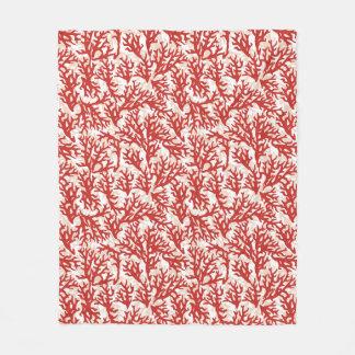 Cobertor De Velo Teste padrão 2 do coral vermelho