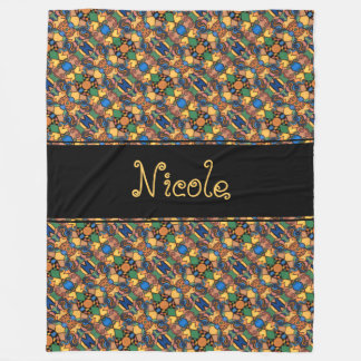 Cobertor De Velo Teste padrão abstrato moderno colorido