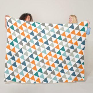 Cobertor De Velo Teste padrão abstrato moderno do triângulo da sala