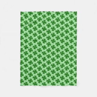 Cobertor De Velo Teste padrão afortunado simples do trevo