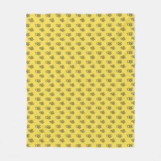 Cobertor De Velo Teste padrão amarelo das abelhas do verão