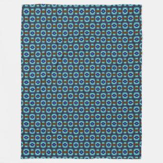 Cobertor De Velo Teste padrão asteca azul do cetim dos diamantes