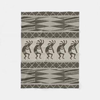 Cobertor De Velo Teste padrão asteca tribal de Kokopelli do design