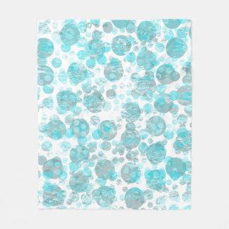 Cobertor De Velo Teste padrão azul afligido dos pontos
