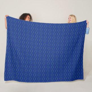 Cobertor De Velo Teste padrão azul do cetim do diamante de Danny