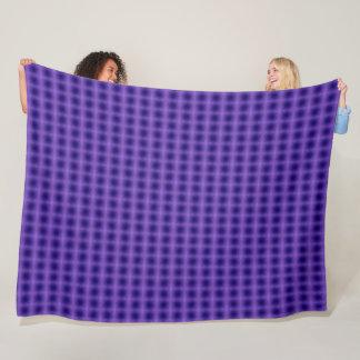 Cobertor De Velo Teste padrão azul do luxuoso da grade do laser