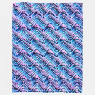 Cobertor De Velo Teste padrão azul e roxo abstrato