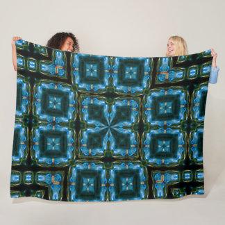Cobertor De Velo Teste padrão azul elétrico do Foulard do cetim