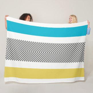 Cobertor De Velo Teste padrão azul geométrico asteca da seta do
