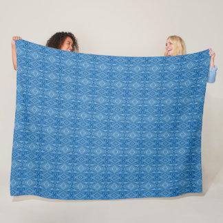 Cobertor De Velo Teste padrão azul original à moda na moda