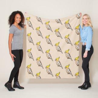 Cobertor De Velo Teste padrão bonito do pássaro do Cockatiel da