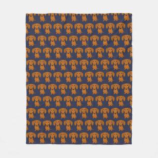 Cobertor De Velo Teste padrão bonito dos Dachshunds