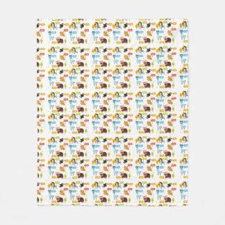 Cobertor De Velo Teste padrão bonito dos miúdos dos animais
