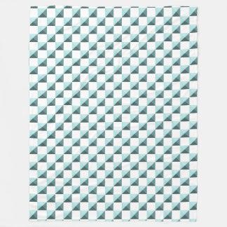 Cobertor De Velo Teste padrão Checkered de Shell do Limpet azul do