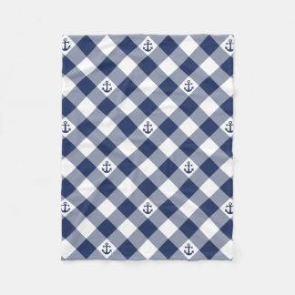 Cobertor De Velo Teste padrão checkered náutico diagonal do guingão