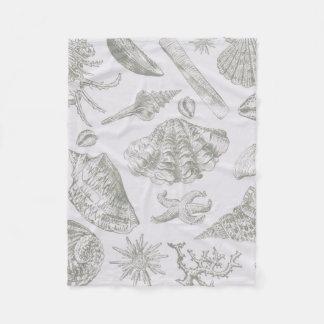 Cobertor De Velo Teste padrão cinzento do impressão da arte do