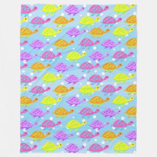Cobertor De Velo Teste padrão colorido da tartaruga