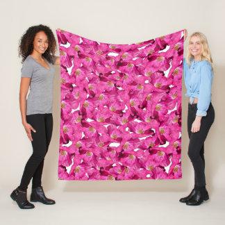 Cobertor De Velo Teste padrão cor-de-rosa das papoilas florais