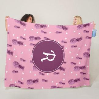 Cobertor De Velo Teste padrão cor-de-rosa tropical dos triângulos