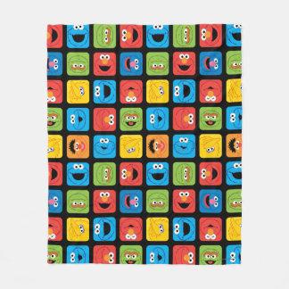 Cobertor De Velo Teste padrão cubado Sesame Street das caras