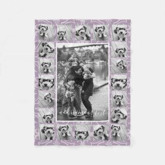 Cobertor De Velo Teste padrão da colagem e do azulejo de 21 fotos -
