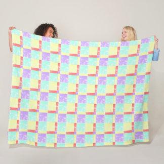 Cobertor De Velo Teste padrão da edredão de retalhos em pastels do