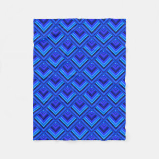 Cobertor De Velo Teste padrão da escala das listras azuis