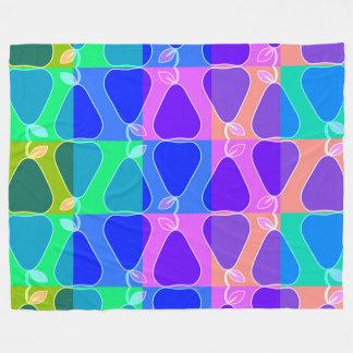 Cobertor De Velo Teste padrão da pera no azul